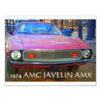 CARROS DO MÚSCULO DE AMC AMX 1974 CONVITES PERSONALIZADO