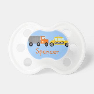 Carros do táxi do camião basculante e de táxi pers chupeta de bebê