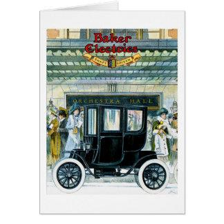 Carros elétricos do padeiro - anúncio do vintage cartao