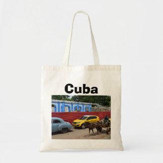 Carros vintage cavalo e carrinho de Cuba Bolsa Tote