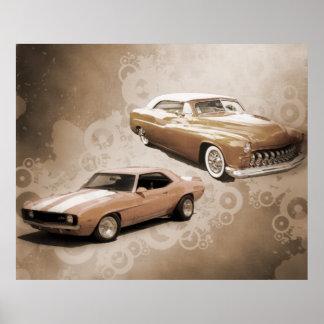 Carros vintage poster