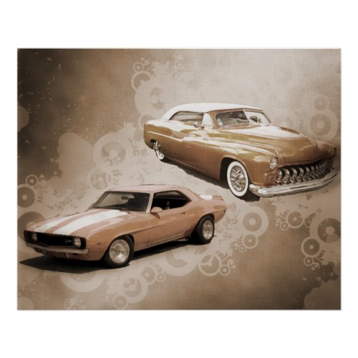 Carros vintage posters