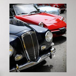 Carros vintage pôster