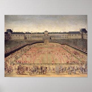 Carrossel dado para Louis XIV Impressão