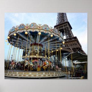 Carrossel de Paris (& torre Eiffel) Pôster