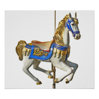 Carrossel do cavalo pôster