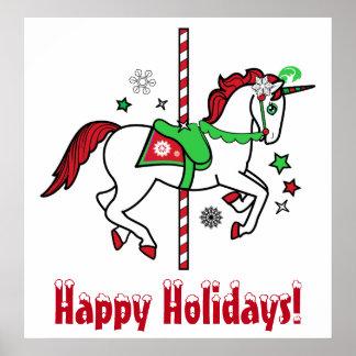Carrossel do Natal boas festas! Posteres