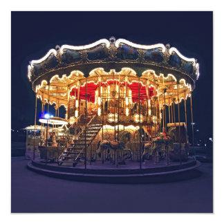 Carrossel em Paris Convite Quadrado 13.35 X 13.35cm