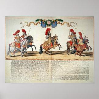 Carrossel pela parte dianteira de Louis XIV de Tui Pôsteres