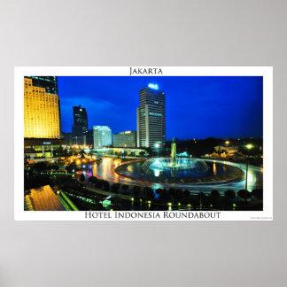 Carrossel-posters de Indonésia do hotel
