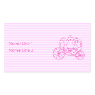 Carruagem cor-de-rosa do conto de fadas cartão de visita