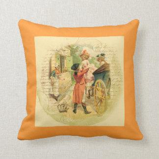 Carruagem do casamento do casal do francês travesseiro