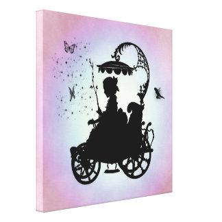 Carruagem mágica do vintage impressão em tela