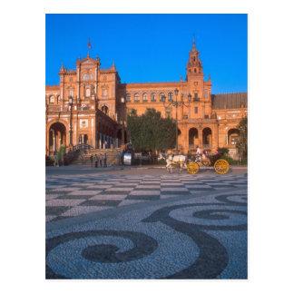 Carruagem puxado a cavalo na plaza de Espana dentr Cartão Postal