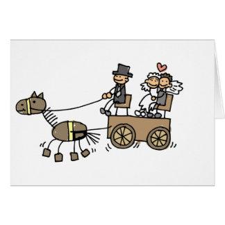 Carruagem puxado a cavalo para casamentos cartao