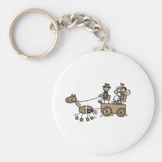 Carruagem puxado a cavalo para casamentos chaveiro
