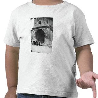 Carruagem que espera antes do patamar da catedral camiseta