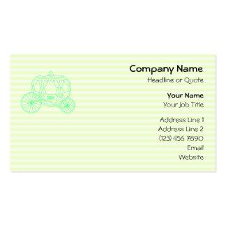 Carruagem verde do conto de fadas cartao de visita