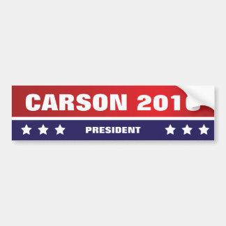 Carson para o presidente autocolante no vidro adesivo para carro