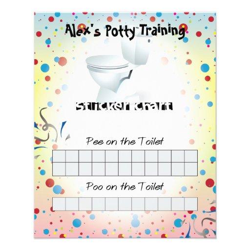 Carta da etiqueta do treinamento do Potty de Child Panfleto