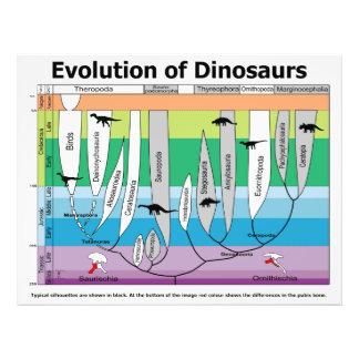 Carta da evolução dos dinossauros impressão fotográficas