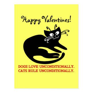 Carta de amor de meu gato: treinamento da cartão postal
