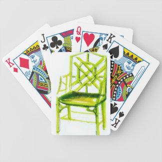 Carta De Baralho cadeira do chinoiserie para o cartão do lugar
