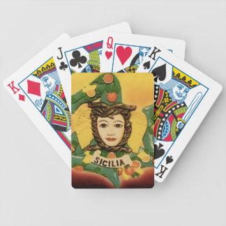Carta De Baralho Cartões de jogo de Trinacria do La