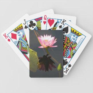 Carta De Baralho Cartões de jogo roxos Pinkish de Waterlily Lotus