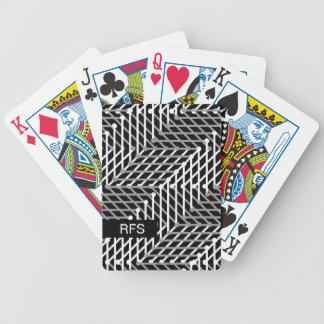 CARTA DE BARALHO CHIQUE QUE JOGA CARDS_WHITE/GREY GEOMÉTRICO NO