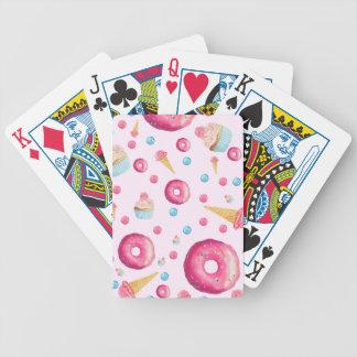 Carta De Baralho Colagem cor-de-rosa da rosquinha