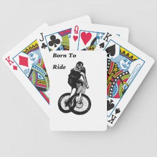 Carta De Baralho Cruz ciclo do CICLISTA do motociclista MTB BMX da