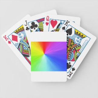 Carta De Baralho Design do espectro do arco-íris