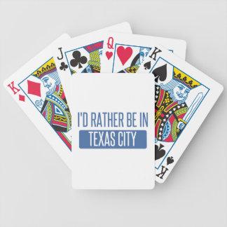 Carta De Baralho Eu preferencialmente estaria na cidade de Texas