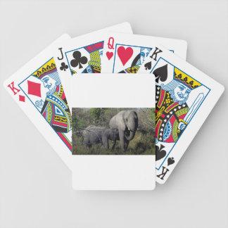 Carta De Baralho Família do elefante africano