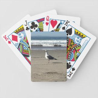 Carta De Baralho Gaivota na praia