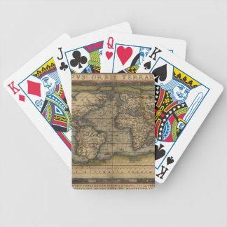 Carta De Baralho Mapa antigo do mundo