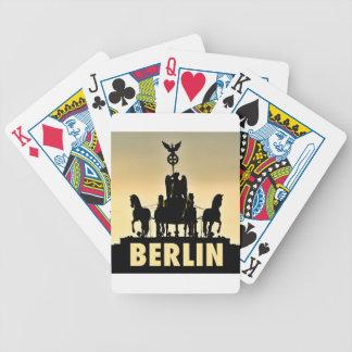 Carta De Baralho Porta de Brandemburgo do Quadriga 002,1 de BERLIM