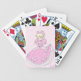Carta De Baralho Princesa cor-de-rosa bonito
