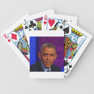 Carta De Baralho Retrato abstrato do presidente Barack Obama 7