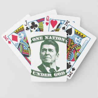 Carta De Baralho Ronald Reagan uma nação sob o deus