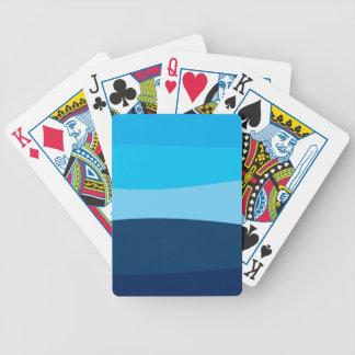 Carta De Baralho Teste padrão abstrato - azul