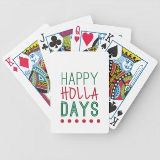 Carta De Baralho Xmas feliz do Natal dos feriados dos dias do Holla