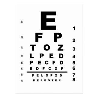 Carta de teste do olho cartão postal