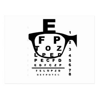 Carta de teste do olho de Blurr Cartão Postal