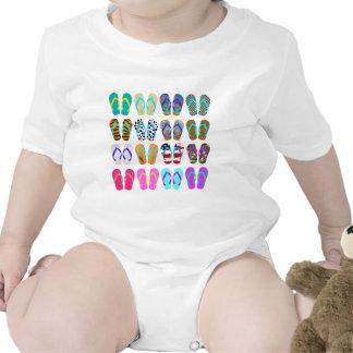 Carta do flip-flop macacãozinhos para bebê
