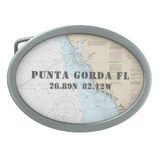 Carta náutica de Punta Gorda FL da longitude da