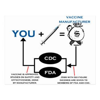 Carta vacinal cartão postal