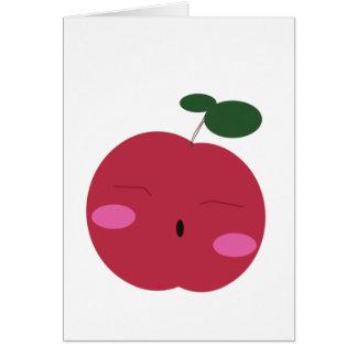 Cartão かわいいりんご bonito do ~ de Apple do 🍎.