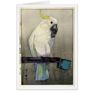 Cartão オウム do ・ do キバタン, cockatoo Enxofre-com crista,